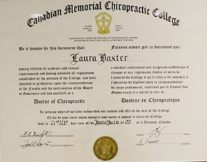 London Chiropractor Dr. Laura Gravelle Degree
