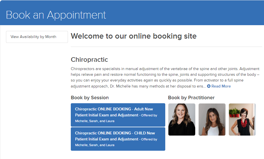Booking Page Image and Link